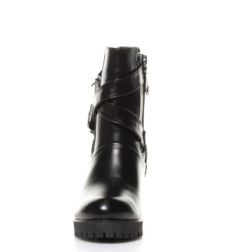 Botines negro 9cm plataforma Altura Gioseppo Nimes tacón OAFqdzw