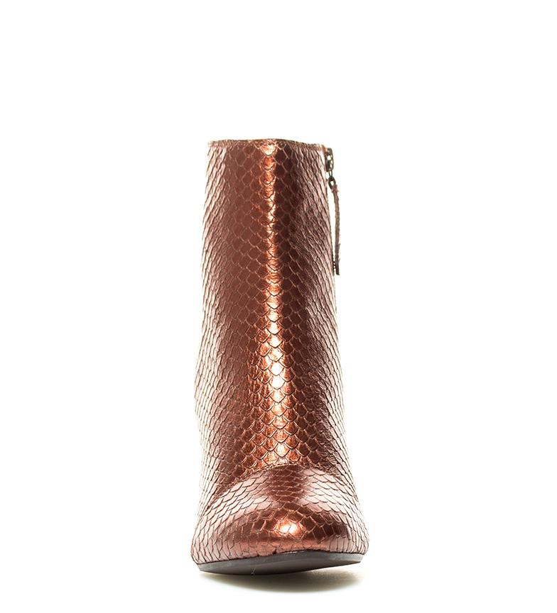 Gioseppo Botín de piel Tora marrón Altura tacón: 9cm