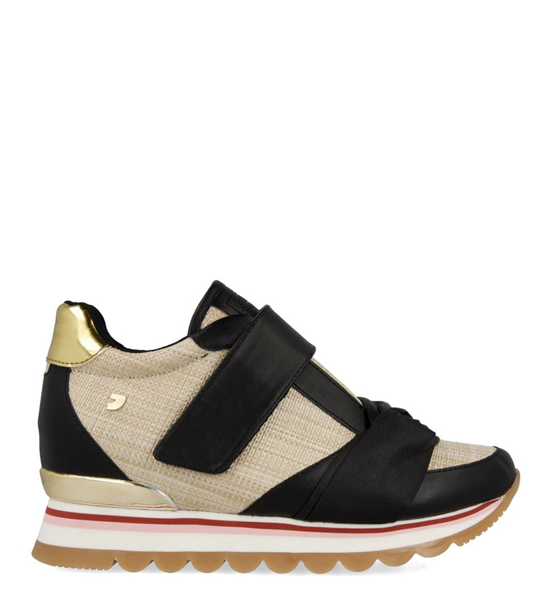 Comprar Gioseppo Slippers Celia black, beige - Wedge+sole height: 5.8cm