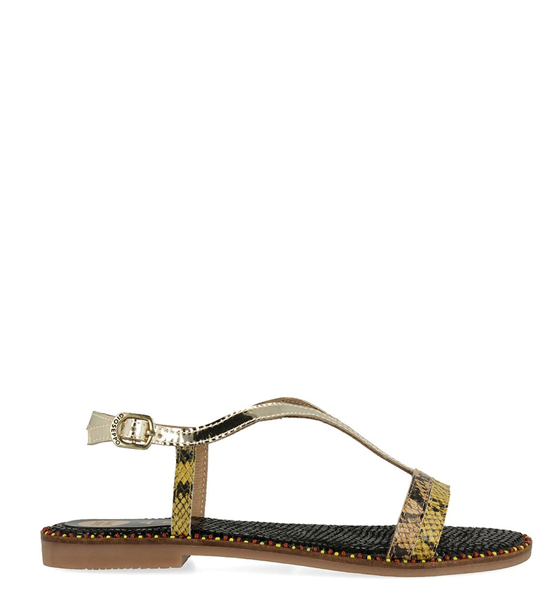 Comprar Gioseppo Rivka Golden Leather Sandals