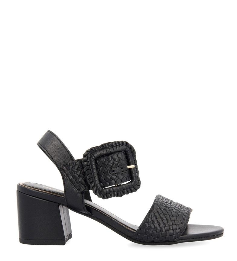 Comprar Gioseppo Sandales en cuir noir Briare - hauteur du talon : 6.5cm
