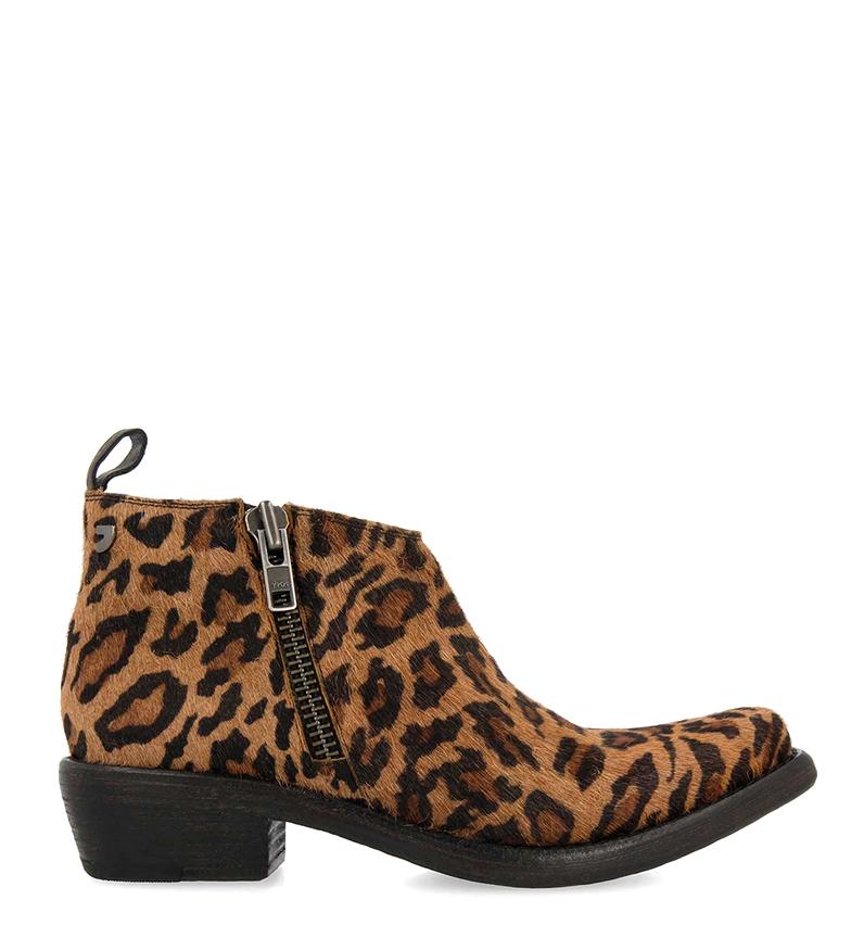 Comprar Gioseppo Leather boots Pori leopard -heel height: 4cm
