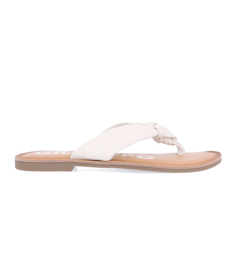 Gioseppo Sandálias de couro minetto branco