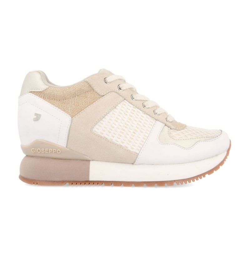 Comprar Gioseppo Sneakers bianche in pelle Bastogne-Altezza interna zeppa + suola: 5,8 cm-