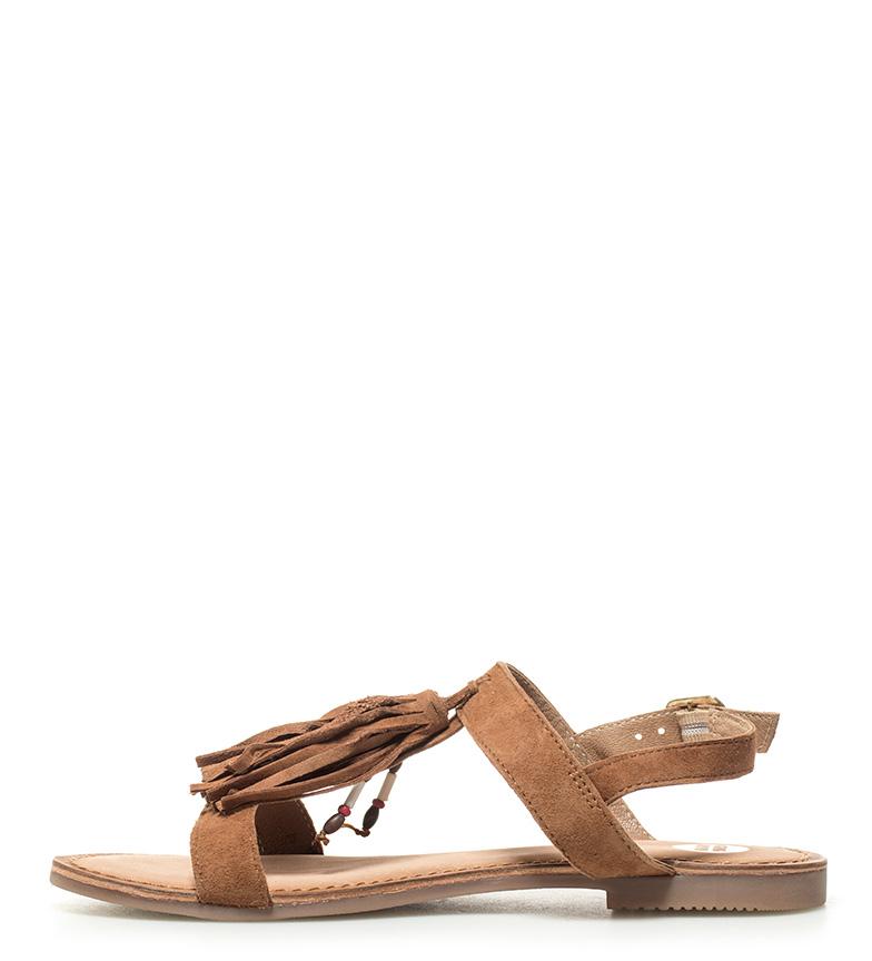 de Sandalias marrón piel Gioseppo Lariku v7OqwxS