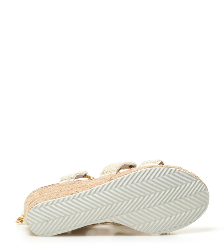 6cm blanco Sandalias dorado cuña Ocelot Altura Gioseppo 0f1Yw0