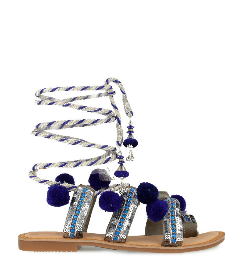 Gioseppo - Sandales Yurak Argent, Bleu