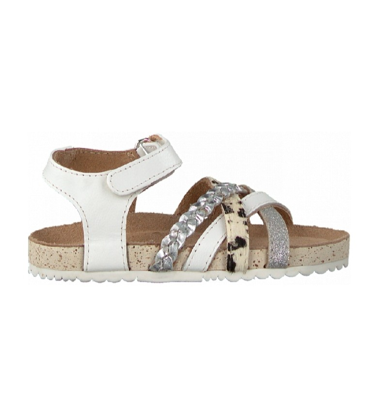 Gioseppo Carthage white leather sandals