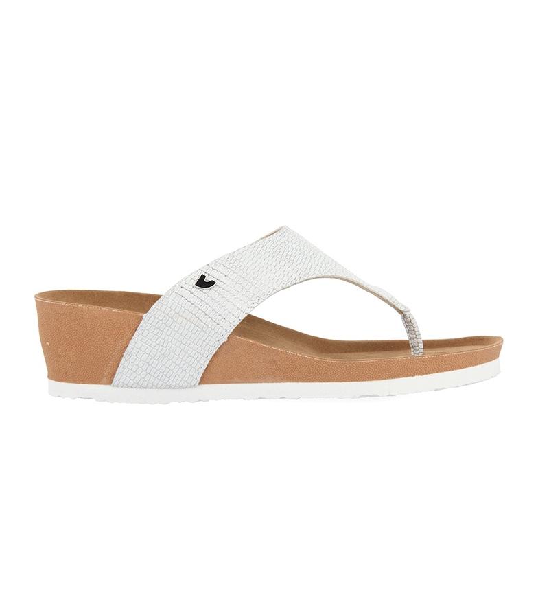Comprar Gioseppo Pantofole Baule bianche - altezza cuneo: 5cm