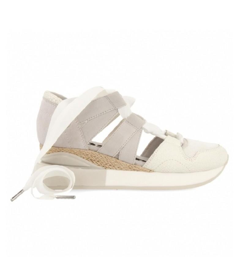 Gioseppo Sandali sportivi Cincinnati in pelle bianca -Altezza zeppa: 5,5 cm-