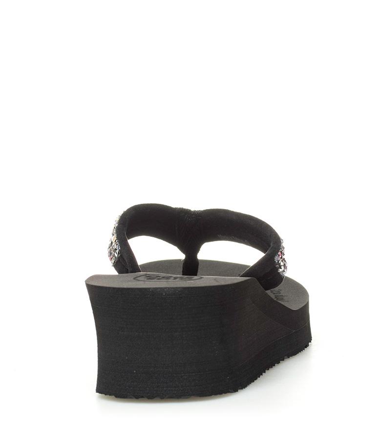 5cm cuña Flop Flip 4 Altura negro Evita Gioseppo S0Xwfg