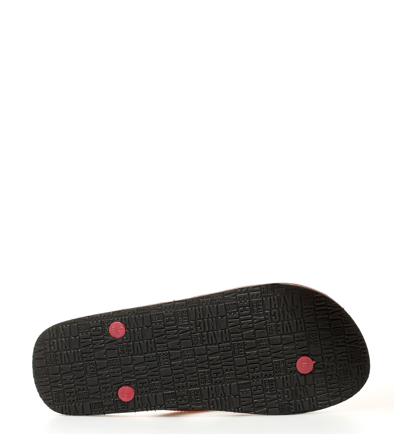 Gioseppo Flip flop Satoshi negro, rojo