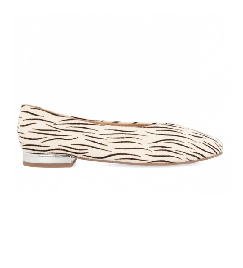 Comprar Gioseppo Bailarinas de piel Durham con Print de Cebra blanco