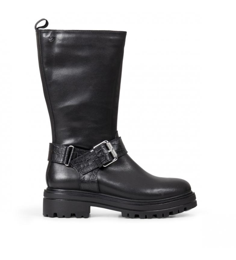 Comprar Gioseppo Vallendar botas de couro preto - Altura do calcanhar: 4,5 cm