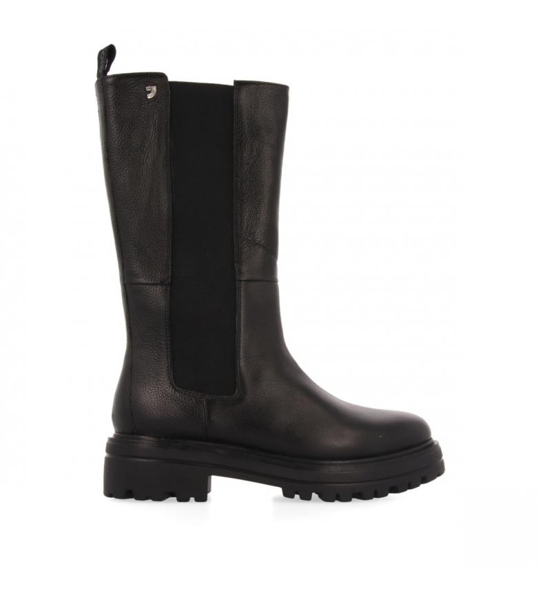 Gioseppo Botas de piel 64490 negro - Altura plataforma 4.5cm -