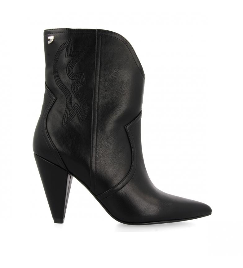 Comprar Gioseppo Black Kurgan leather ankle boots -Heel height: 8,5cm