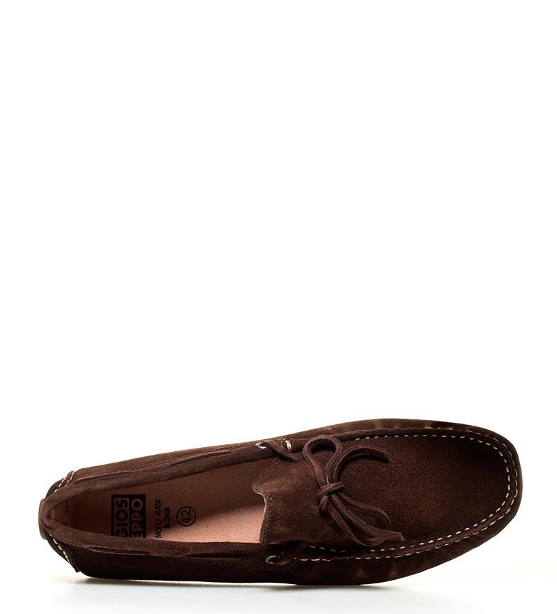 Gioseppo Mocasines de piel Ingene marrón