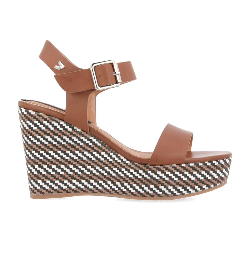 Comprar Gioseppo Sandals Petropolis brown - Wedge height: 10.5cm