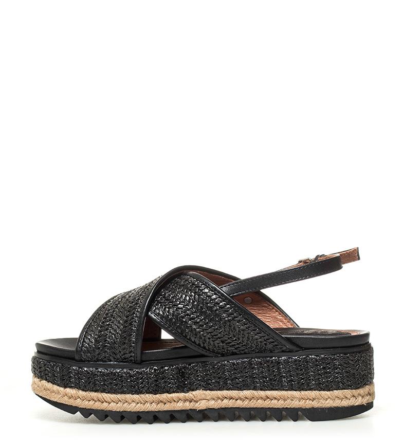 6 Sandalias Altura cm negro Abigail Gioseppo plataforma R8PTxH