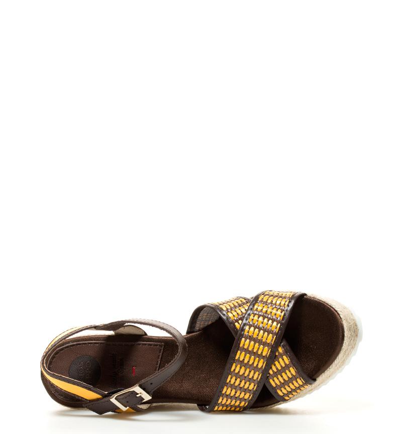 Sandalias 11cm br br Biodola Altura amarillo cuña Gioseppo marrón dv8Xdq