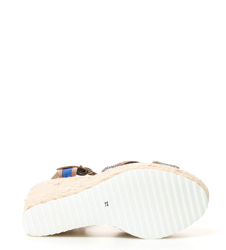 cuña 11cm br Sandalias Gioseppo Biodola marrón br Altura azul Uw68q0zgf
