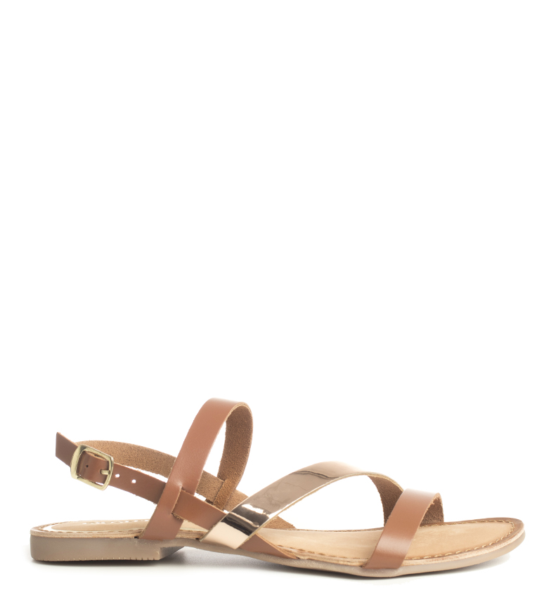 Comprar Gioseppo Calcis brown leather sandals