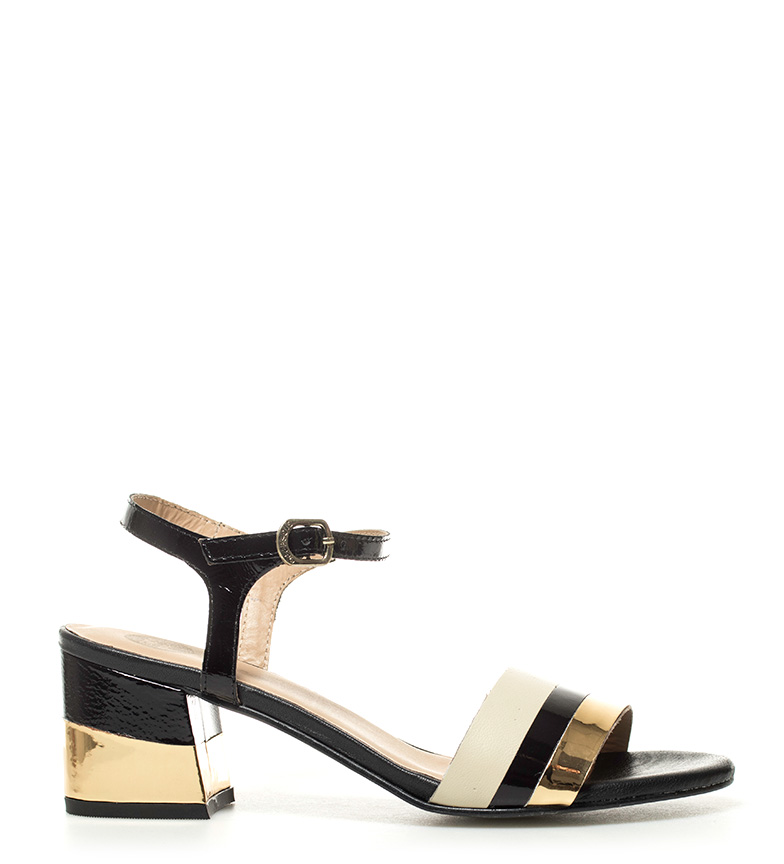Comprar Gioseppo Patent leather sandals Black myths -Heel height: 6.5cm-