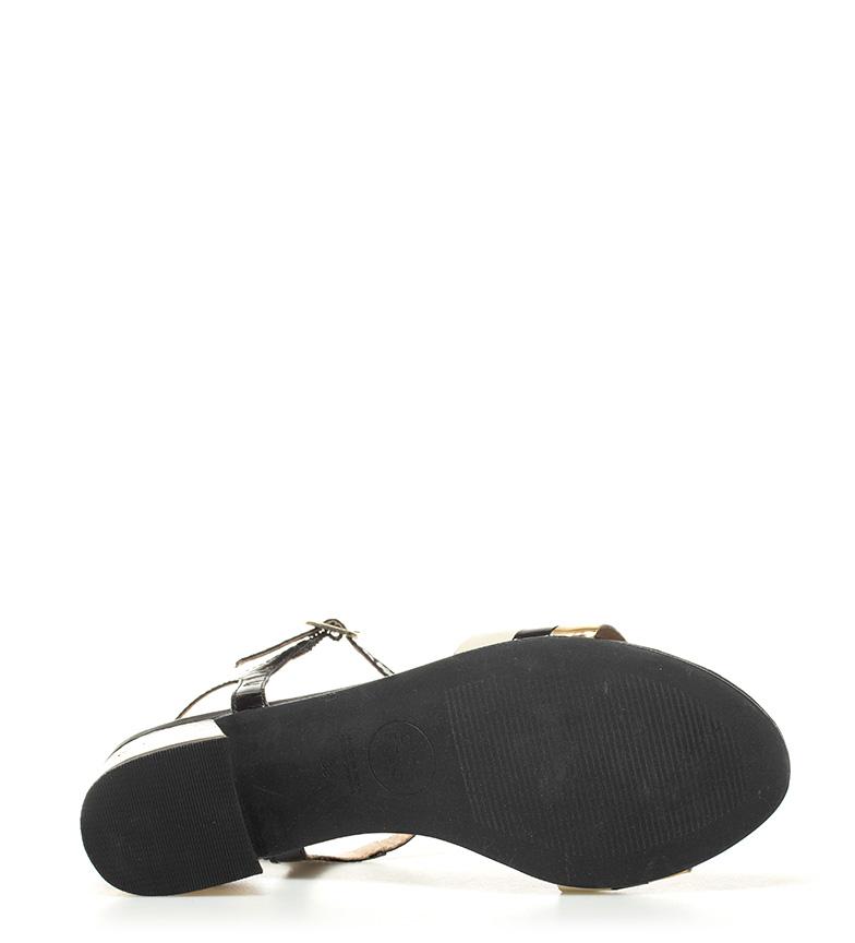 tacón Gioseppo Altura negro charol de Sandalias 6 5cm Mitos x1wpqYar1