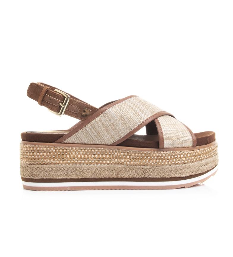 Comprar Gioseppo Black Chaidari leather sandals - Platform height: 6.5 cm