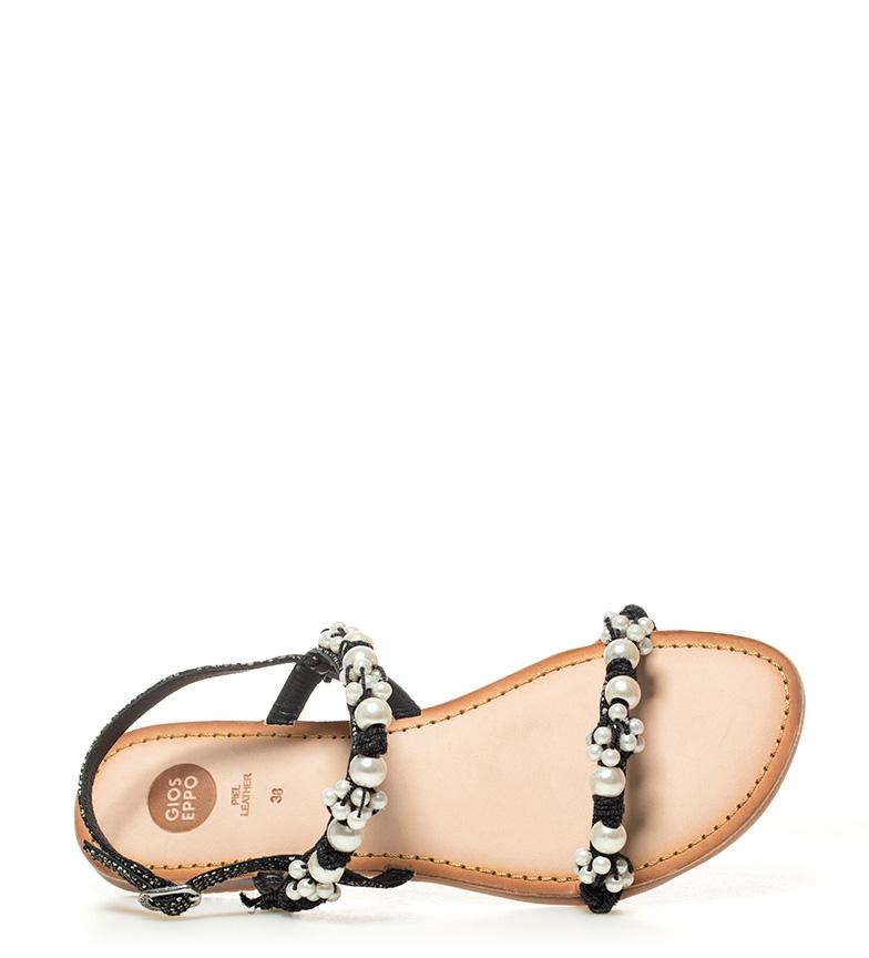 Sandalias negro Gioseppo Danita de piel S4vcqfP1