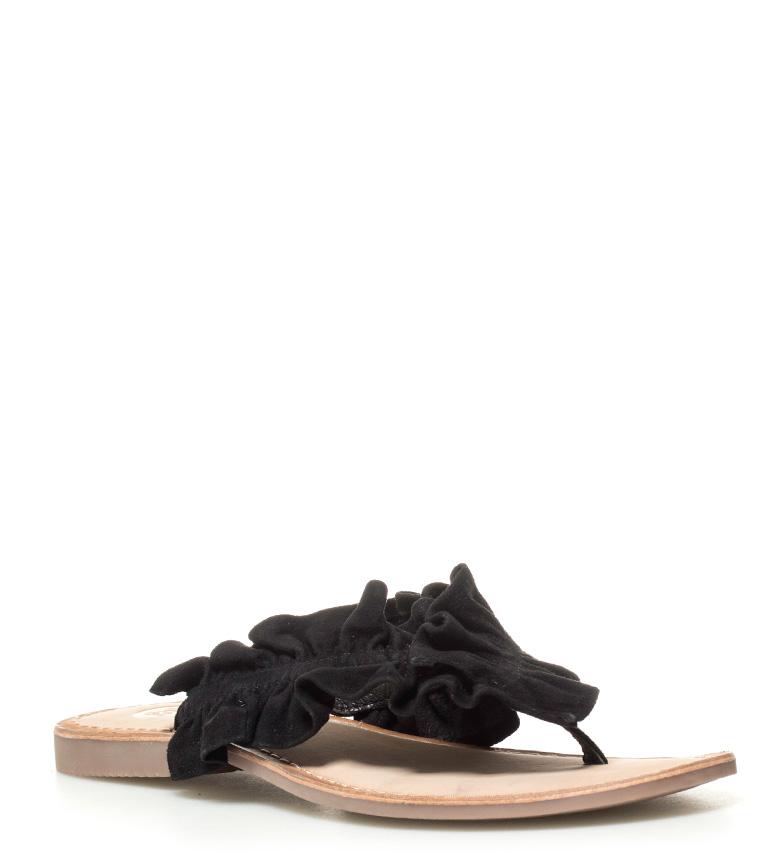 Gioseppo - Sandalias de piel Gabi negro 1wYBljQq