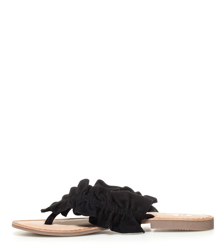 piel negro Gabi Sandalias de Gioseppo wp0qETa