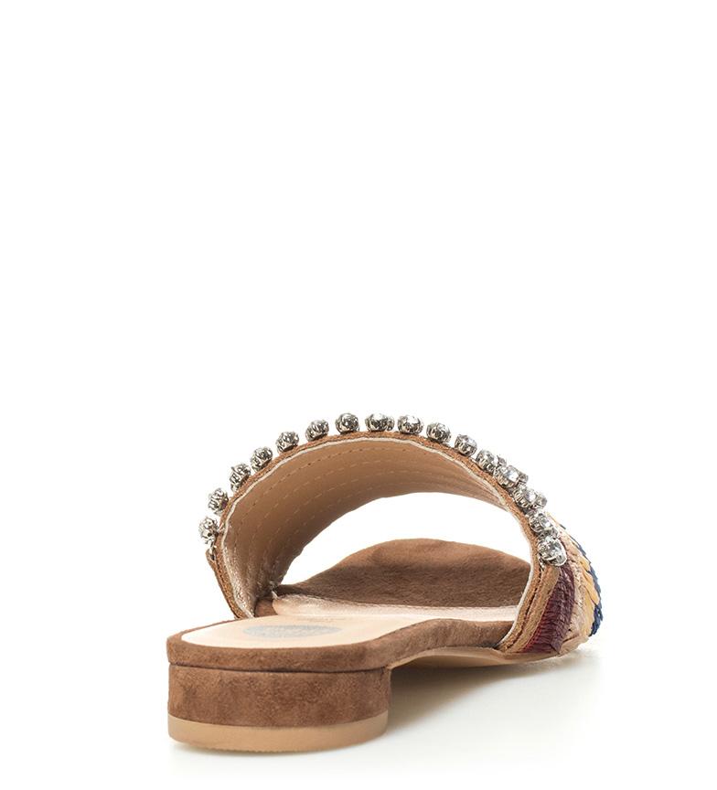 piel de multicolor marrón Sandalias Gertrude Gioseppo qvSn7Eg