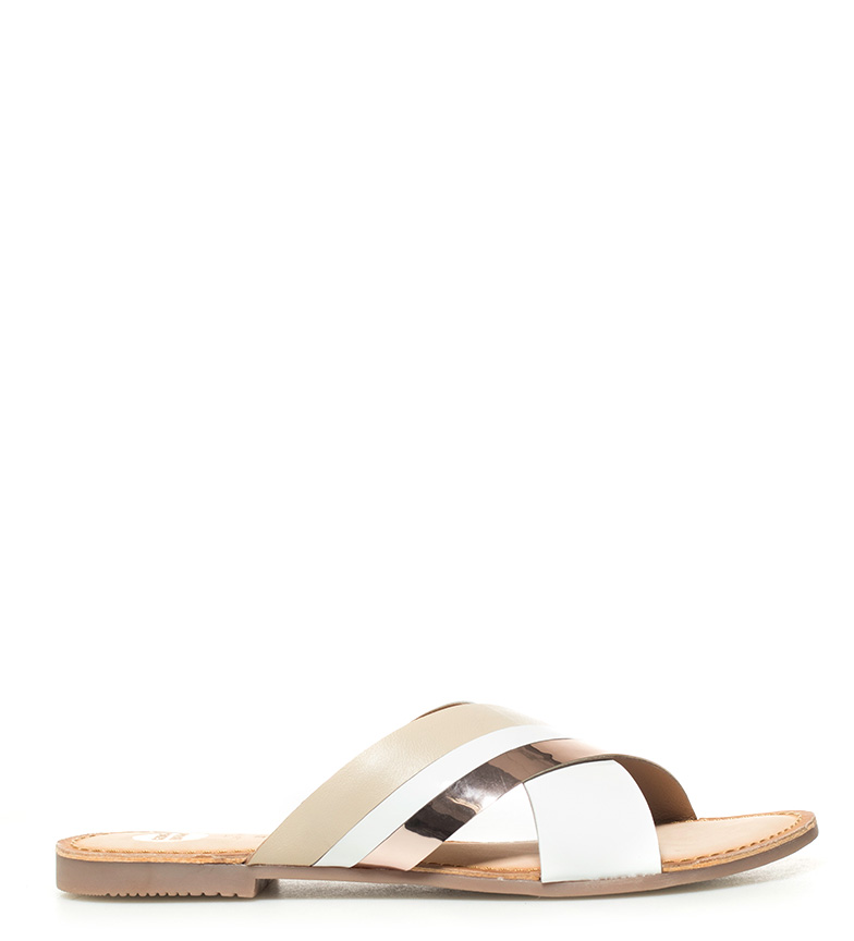 Comprar Gioseppo Leather sandals Hypatia white, gold
