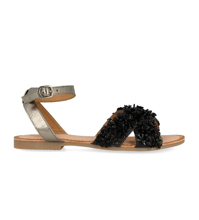 Comprar Gioseppo Jasmine leather sandals silver, black