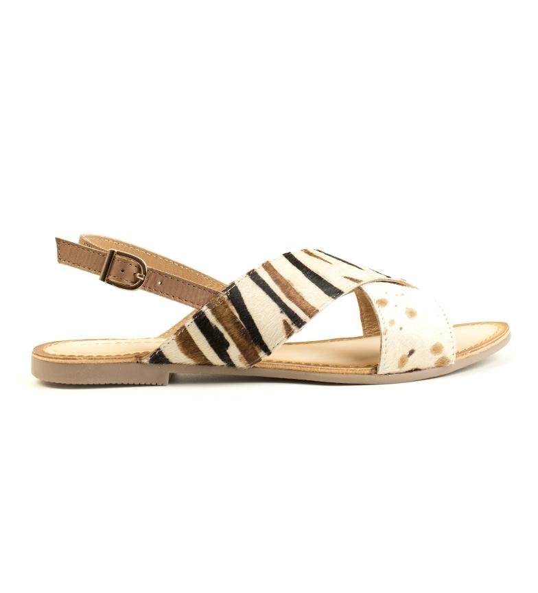 Comprar Gioseppo Langeais brown leather sandals, beige