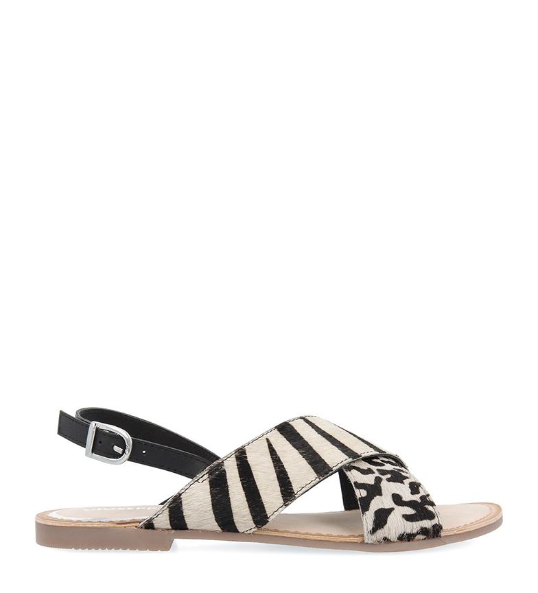 Comprar Gioseppo Langeais leather sandals black, white