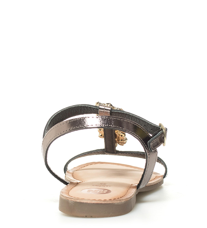 piel negro Gioseppo de Sandalias de Leda Sandalias Gioseppo UxXFA0v