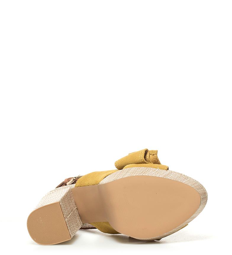 5cm 11 piel Gioseppo Marilyn de tacón Altura mostaza Sandalias nxwx1O0Aq8