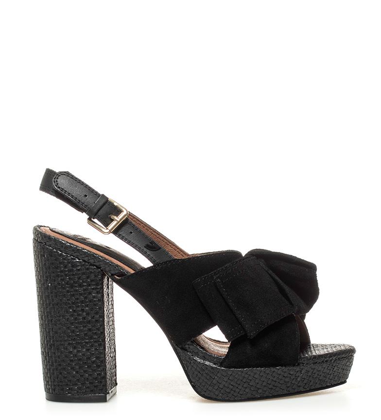 5cm Negroaltura De Gioseppo Marilyn Tacn11 Sandalias Piel mNv0w8n