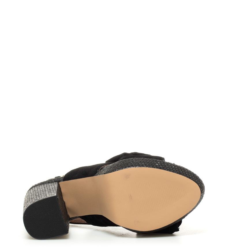 Altura 11 negro 5cm Gioseppo Marilyn tacón piel de Sandalias qwwBz0X