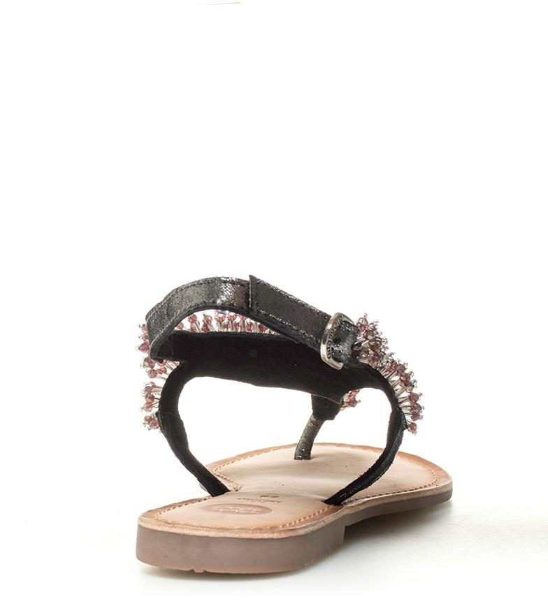de Gioseppo Meggy negro Sandalias piel Sandalias de Gioseppo rFxIwqOF