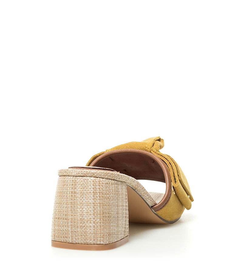 Sandalias De 5cm Piel Tacn6 Gioseppo Mostazaaltura Mirtel Owk0nP
