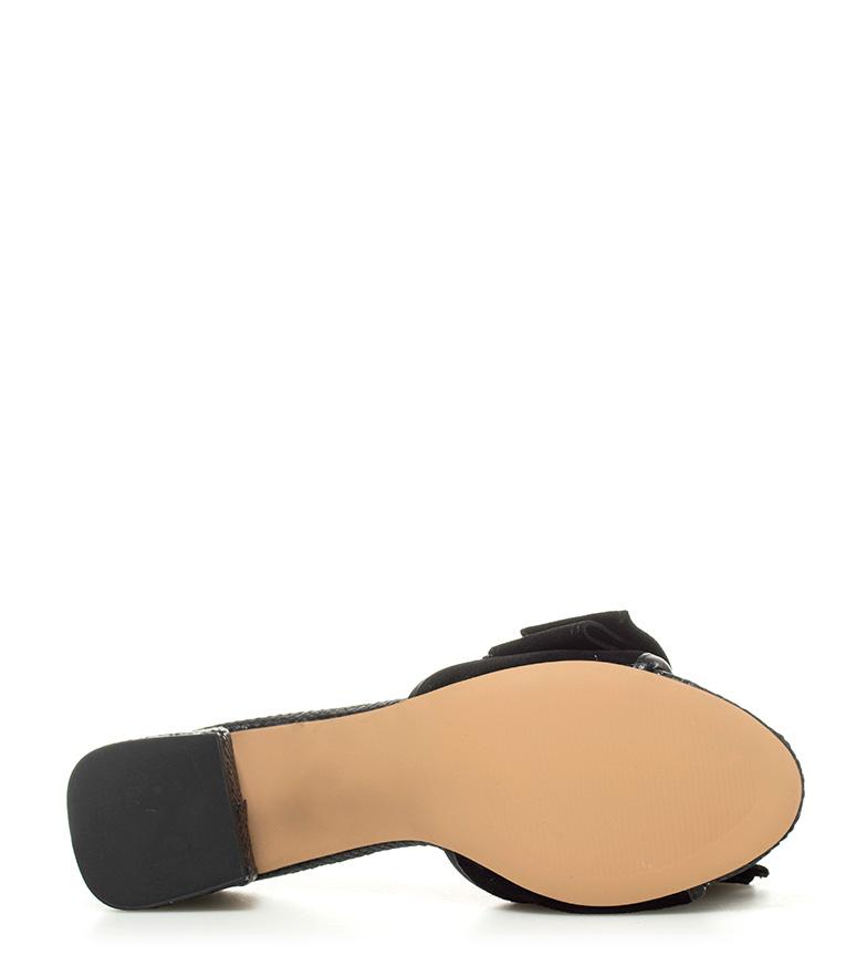 negro Gioseppo Sandalias tacón piel Mirtel 6 de Altura 5cm IBaFBxR