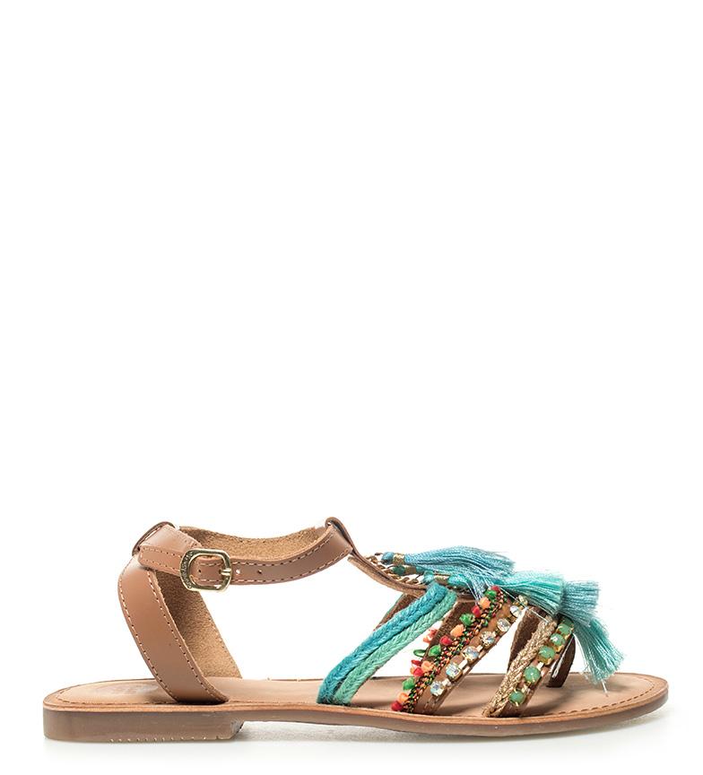 Comprar Gioseppo Blue Nambi leather sandals
