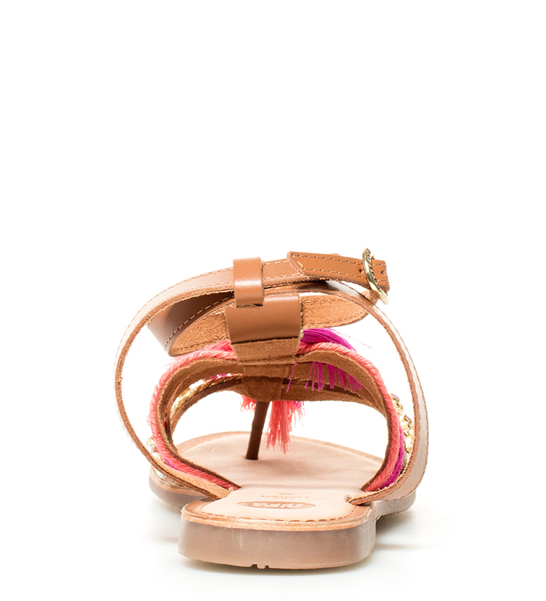 Nambi piel de Sandalias Gioseppo rosa Sandalias marrón Gioseppo wEItXwq
