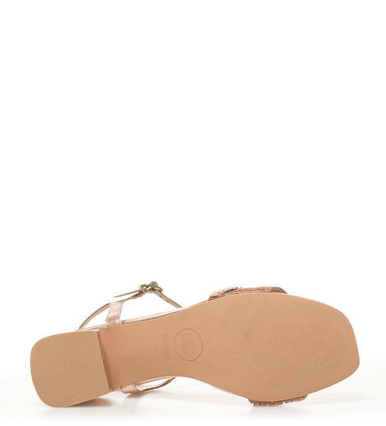 Altura piel de Gioseppo Natane Sandalias 6 5cm tacón nude PX4aqga