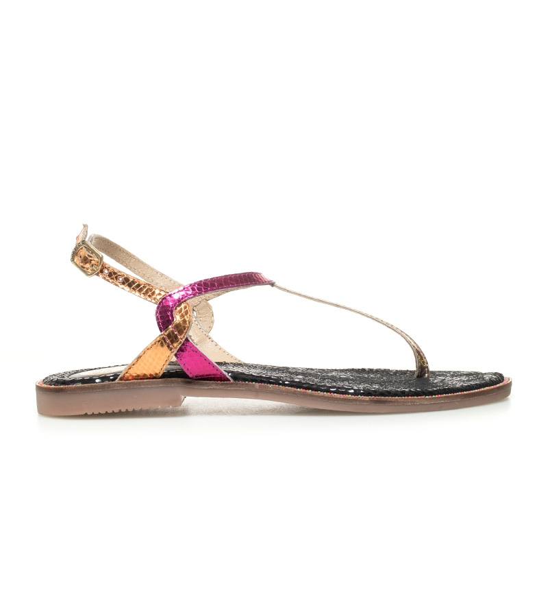 Comprar Gioseppo Neda bronze leather sandals, multicolor