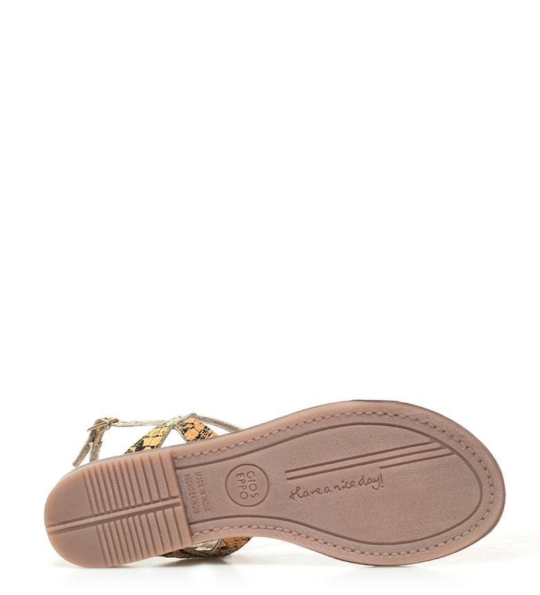 Gioseppo multicolor Sandalias de Sandalias Gioseppo piel Neda dorado d0BE6n