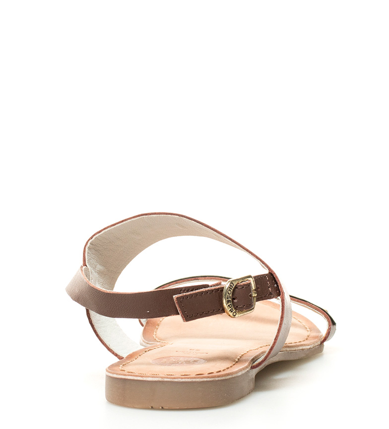 Sandalias marrón de Gioseppo Onesta piel 8WFRRg